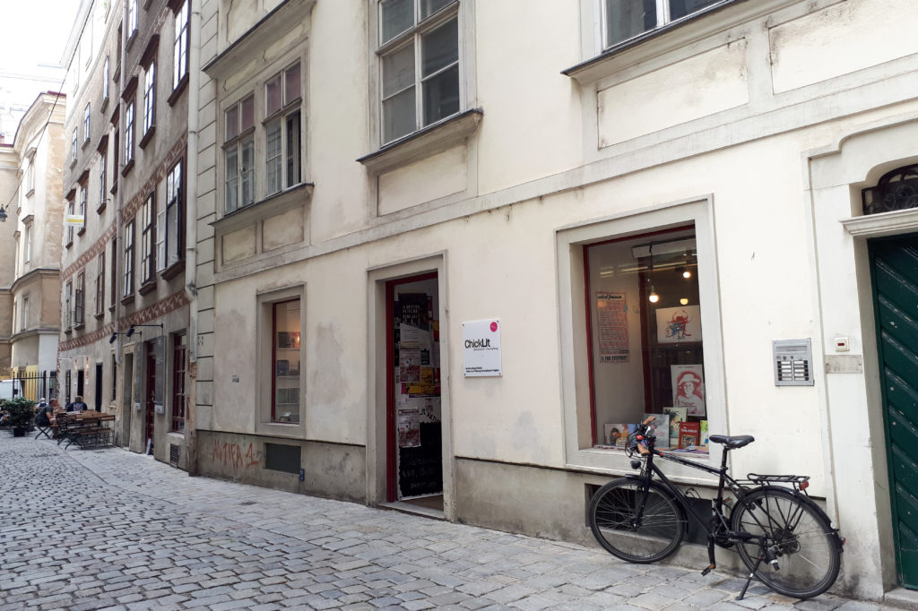 Rue librairie féministe et lesbienne Chick Lit à Vienne