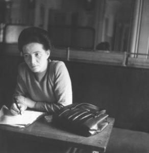 Simone de Beauvoir au Café de Flore,