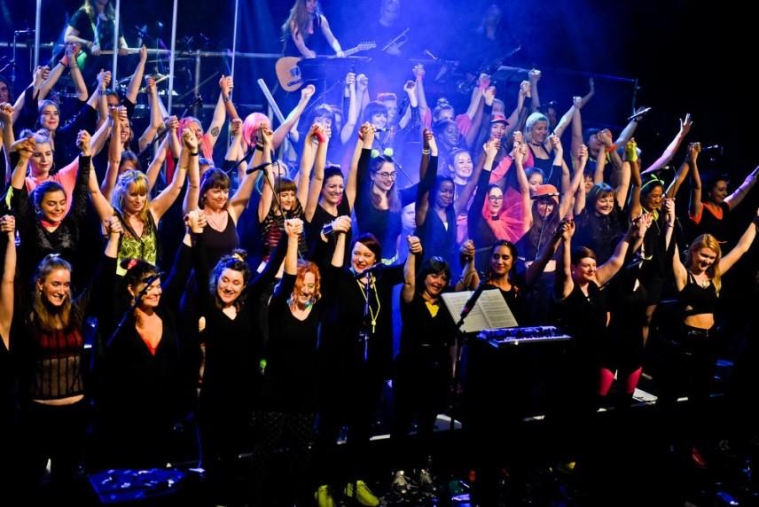 """Women Choir """"Lips"""" in London"""