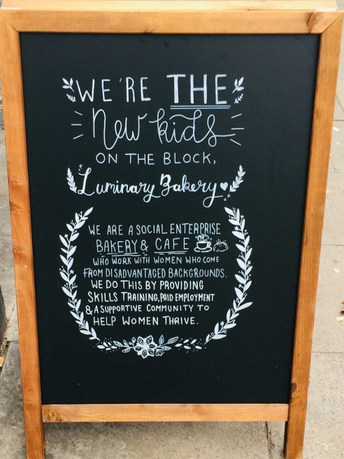Luminary Bakery's board