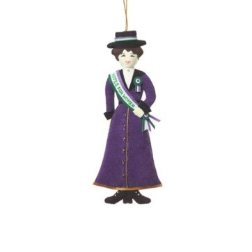 Suffragette  xmas decoration