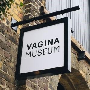Vagina museum's sign